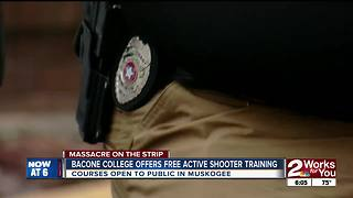 Bacone College offers Free Active shooter training - Video