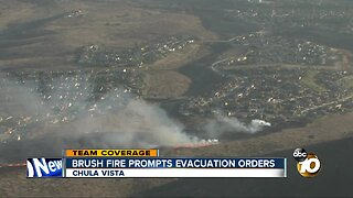 Brush fire prompts evacuation orders