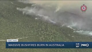 Fires burning in California and Australia