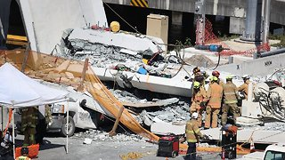 Crews Work Overnight To Find Victims Of Florida Bridge Collapse