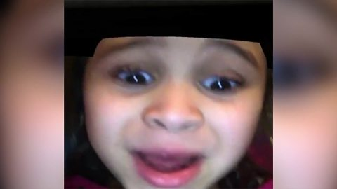 Tot Girl Freaks Out Over Snapchat