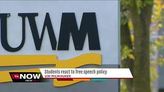 UWM students react to new protest policy - Video