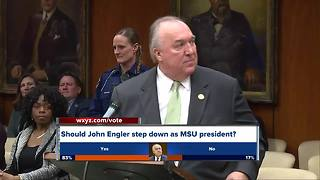 Michigan State University Interim President John Engler urged to resign - Video