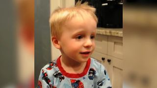 Toddler Cuts His Hair To Look Like Dad - Video