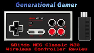 8Bitdo N30 2.4G Wireless Controller for Nintendo's NES Classic Edition