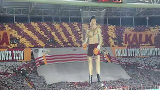 Investigation Opened After 'Rocky' Banner Unfurled at Galatasaray Match - Video