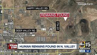 Human remains found in north Valley desert