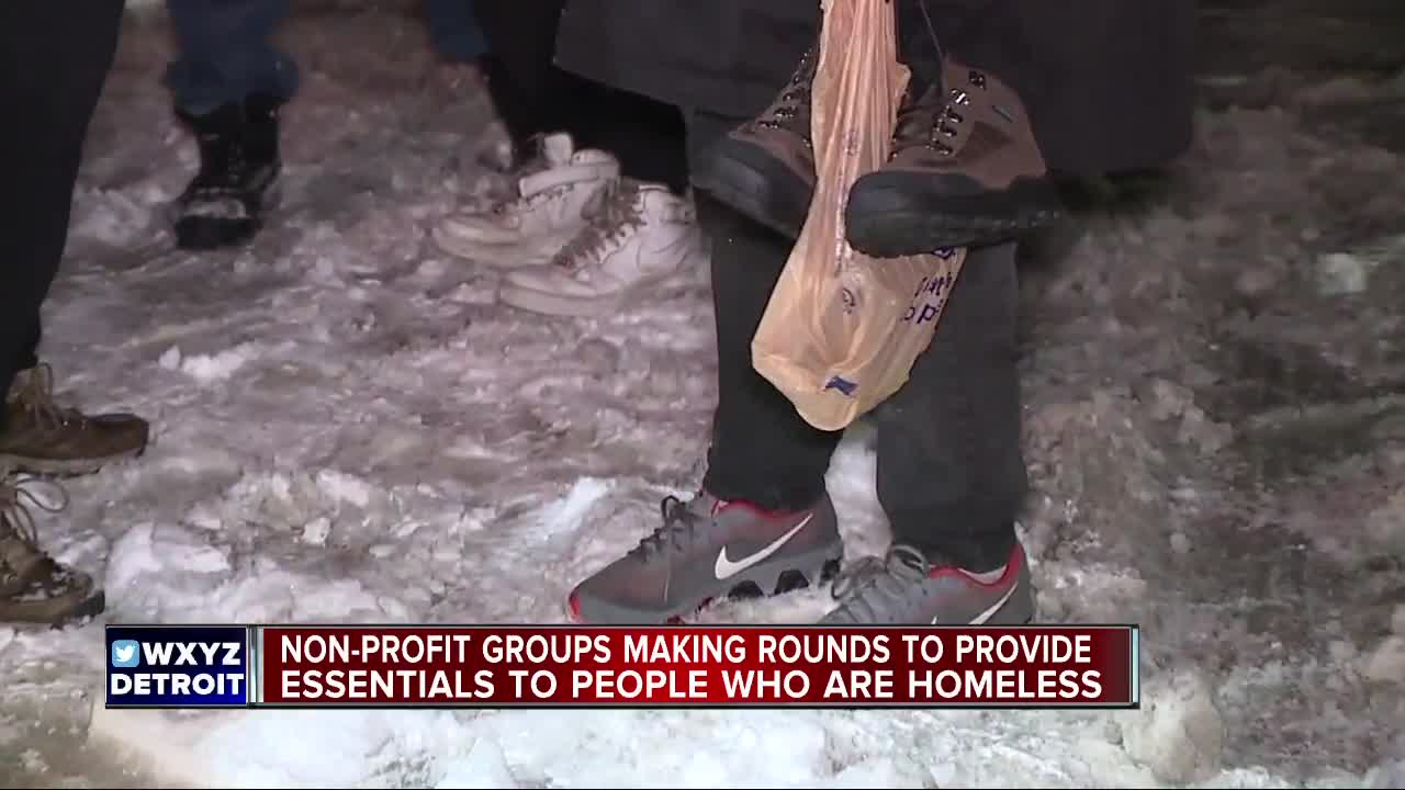 Nonprofit groups making rounds to provide essentials to people who are homeless