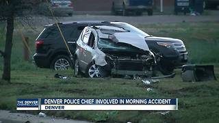 Police: Denver chief struck by hit-and-run driver; helped other crash victim - Video