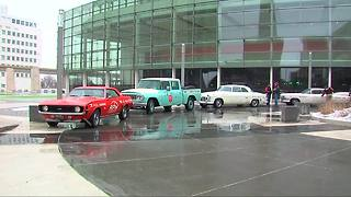 Classic cars roll into Detroit for kick-off of Detroit auto show - Video