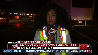 Deadly crash temporarily shuts down multiple lanes on I-5 S