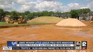 Baltimore little league field getting makeover after 50 years - Video