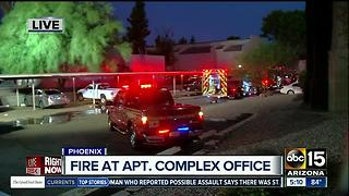 Crews gain quick control of fire at Phoenix apartment complex