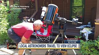 Local astronomers head to North Carolina for best views of Total Solar Eclipse - Video