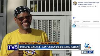 Principal removed from position during investigation - Video