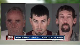 Unlicensed contractors busted in sting - Video