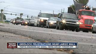 Traffic gridlock near Largo Mall frustrating drivers - Video