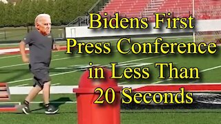 Bidens First Press Conference in Less Than 20 Seconds