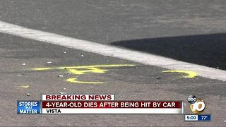 4-year-old boy dies after being hit by car