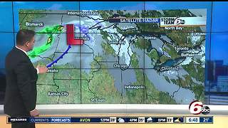 Showers possible today, highs in 30s - Video