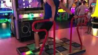 Competitive Dancer Shows Off Moves Inside San Diego Arcade