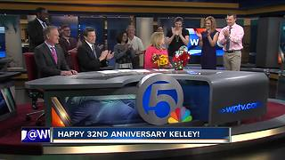 Kelley Dunn's 32nd anniversary at WPTV - Video
