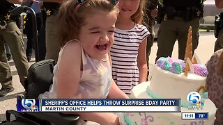 Martin County Sheriff's Office helps throw surprise birthday party
