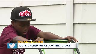 Viral video: Police called on 12-year-old mowing - Video