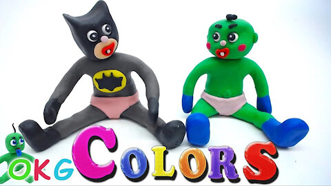 Learning colors with superheroes: Stop motion animation for kids