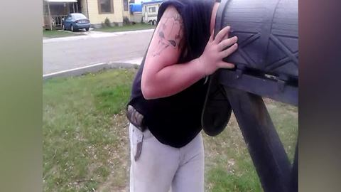 Guy Gets His Head Stuck In A Mailbox