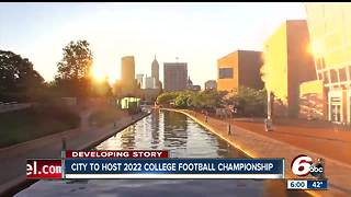 2022 college football championship hosted in Indianapolis - Video