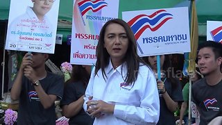 Thailand's first transgender PM candidate rallies support ahead of elections