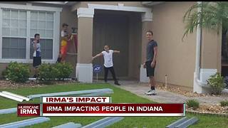 Indiana native evacuated from Naples before Hurricane Irma pounded the state of Florida - Video