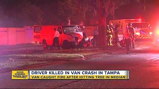 Man dies in Christmas Day crash in Tampa - Video