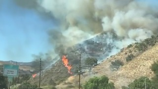 Vista Fire Burns in Ventura, California - Video