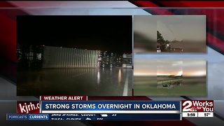 Strong storms reported in Oklahoma