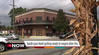 South Lyon Hotel getting ready to reopen after fire - Video