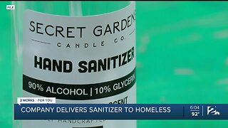 Local Candle Company Delivers Sanitizer to Homeless
