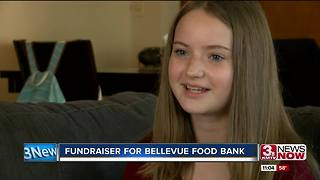 Bellevue girl raises money for food pantry - Video