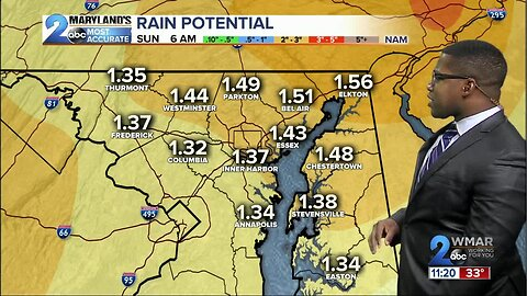 WMAR-2 News Weather at 11