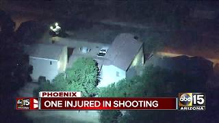 Phoenix police: One injured in shooting; search for suspect ongoing - Video