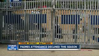 Padres attendance declined this season - Video