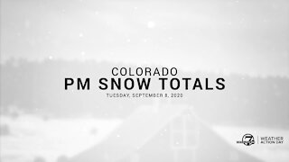Tuesday PM Colorado snow totals