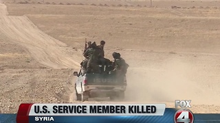 U.S. Service member killed in Syria