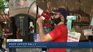 Rally in Denver to support the U.S. Postal Service