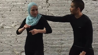 Muslim Woman Teaches Self-Defense For Women Wearing Hijabs
