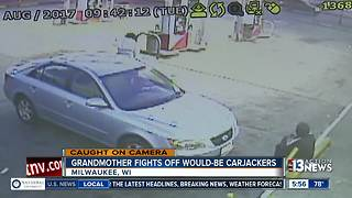 Grandmother fights off carjackers - Video