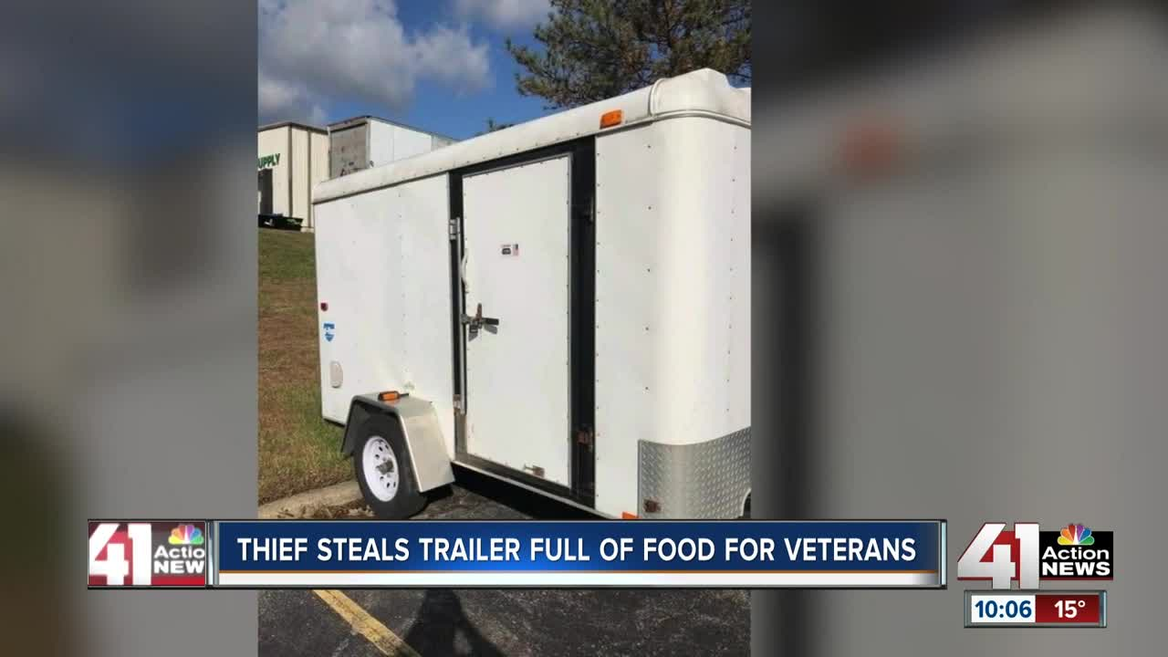 Trailer filled with meals for veterans stolen from nonprofit group on Veterans Day