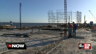Vertical construction begins on St. Pete Pier