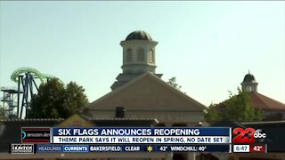 If COVID rules allow, Magic Mountain Six Flags plans to reopen in the spring